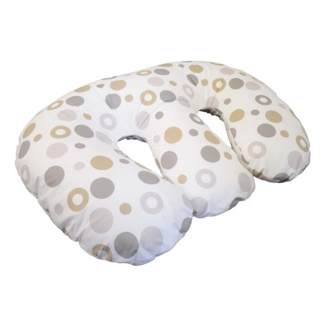 4Baby Deluxe 4 in 1 Twin Nursing / Pregnancy Pillow / Cushion - Grey Bubbles